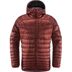 Haglöfs Essens Chaqueta de plumas Hombre, maroon red/magnetite